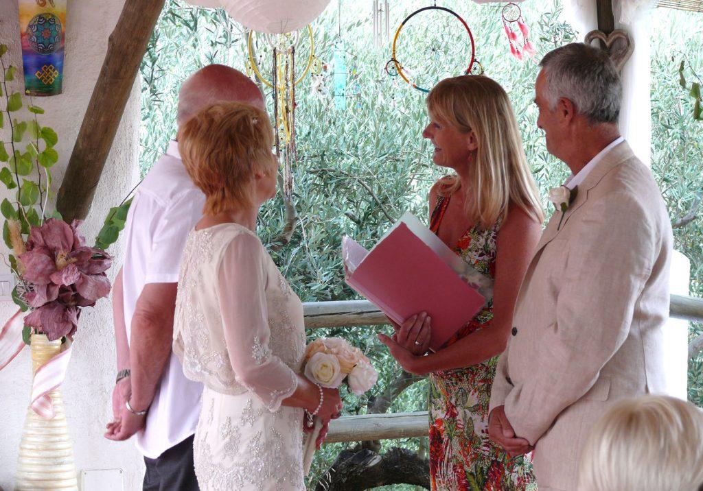 Spanish cortijo vow renewal with Debbie Skyrme Celebrant Spain