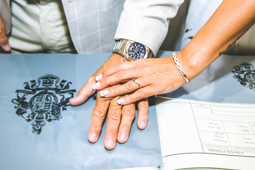 Gibraltar register office marriage of Spanish and English couple