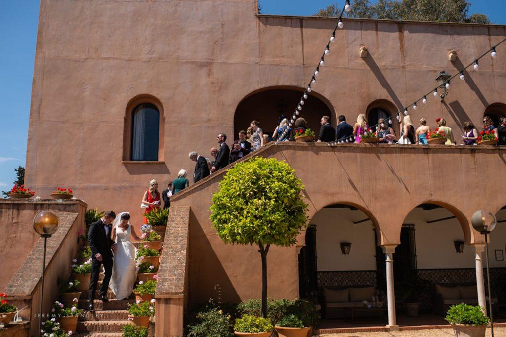 Jeremy Standley photo of bespoke wedding at Castillo de Santa Catalina in Malaga
