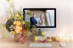 Lara Onac photographer of online wedding ceremony officiated by Celebrant Spain