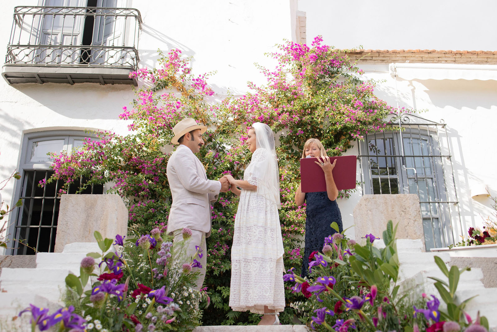 symbolic wedding ceremony at Casa Grande de Zuhaira in Granada officiated by Celebrant Spain