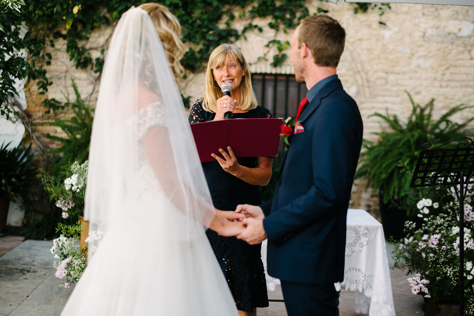Celebrant Spain officiates Cadiz finca wedding photographed by Maria Benitez