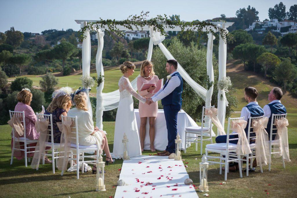 socially distanced micro wedding at La Cala Resort Mijas Spain
