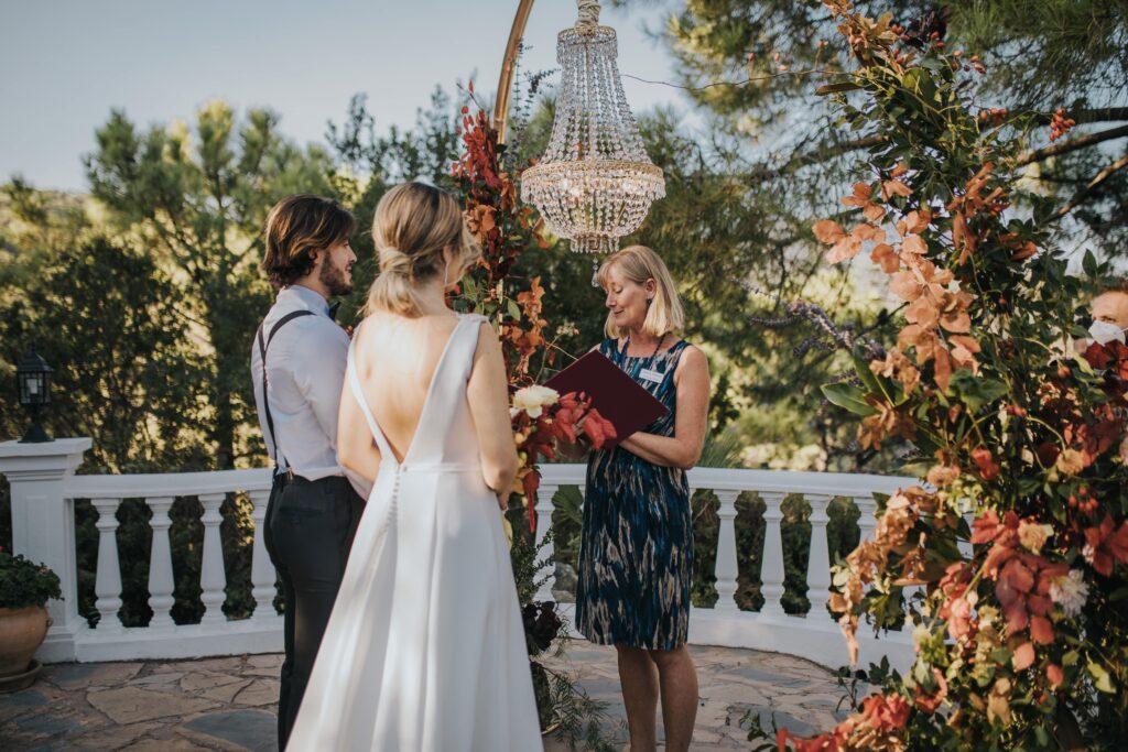Celebrant Spain ceremony at Marbella villa