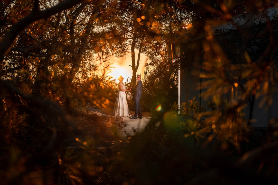 Sunrise vow renewal ceremony in Spain