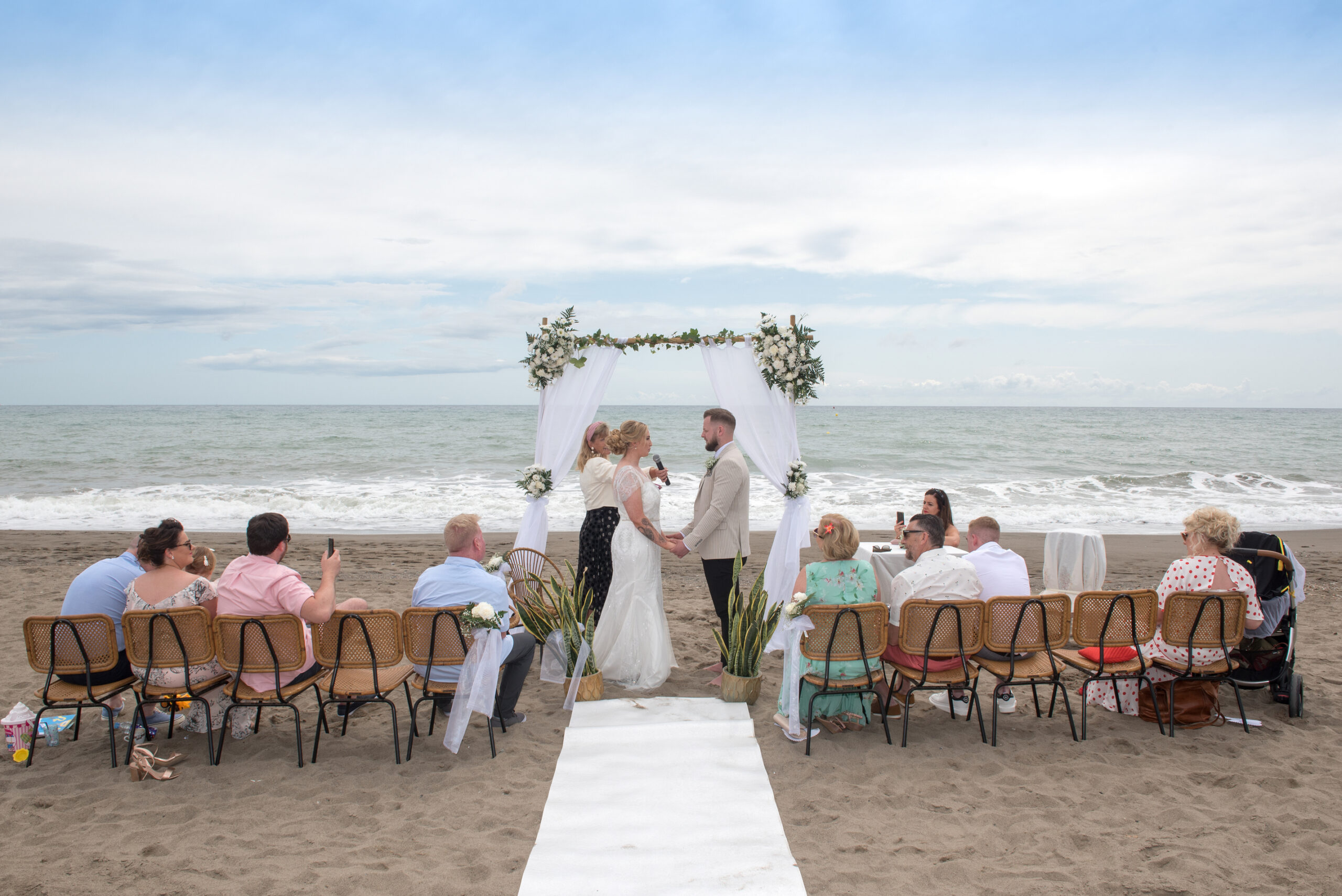 tiny beach wedding in Spain