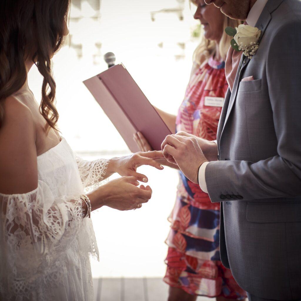 Photo Ana Marielina ring exchange ceremony in Malaga