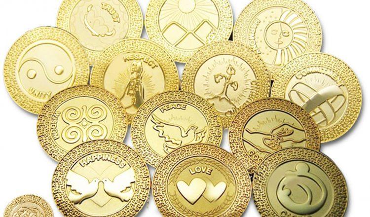 Spanish wedding ritual arras coins
