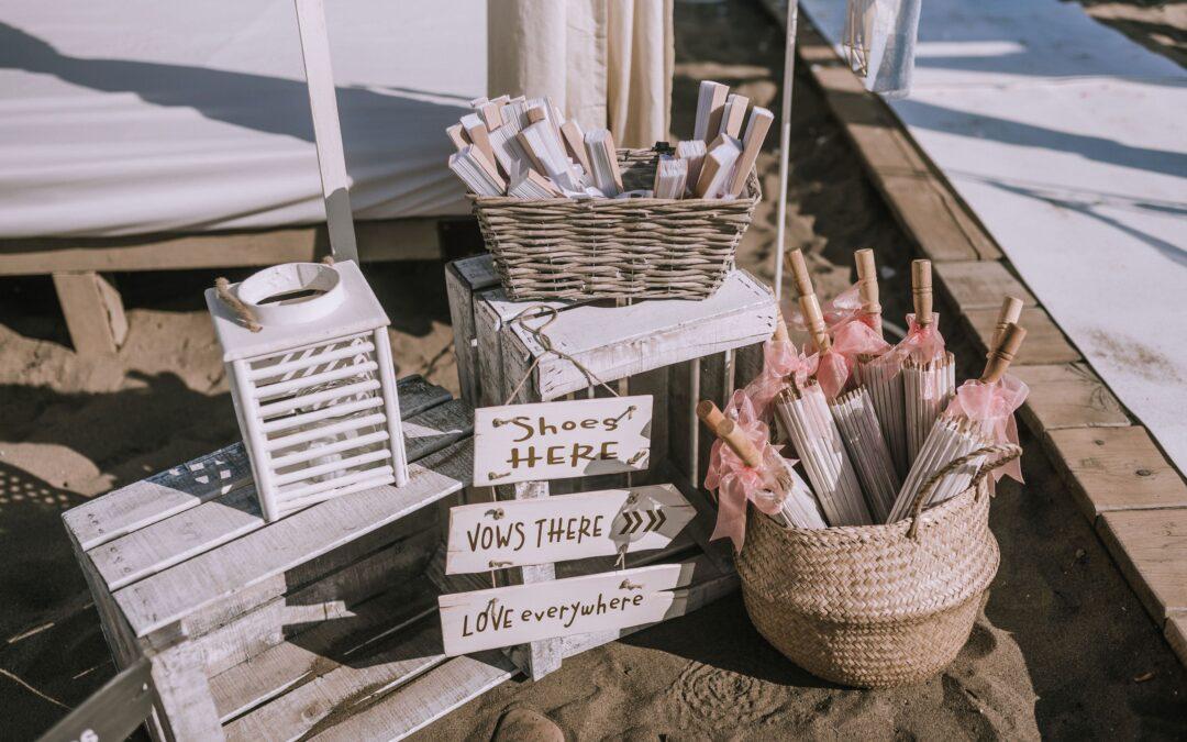 Real styled beach wedding in Spain