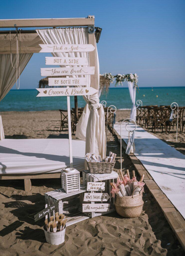 Photo Natasha Ince real Malaga beach wedding