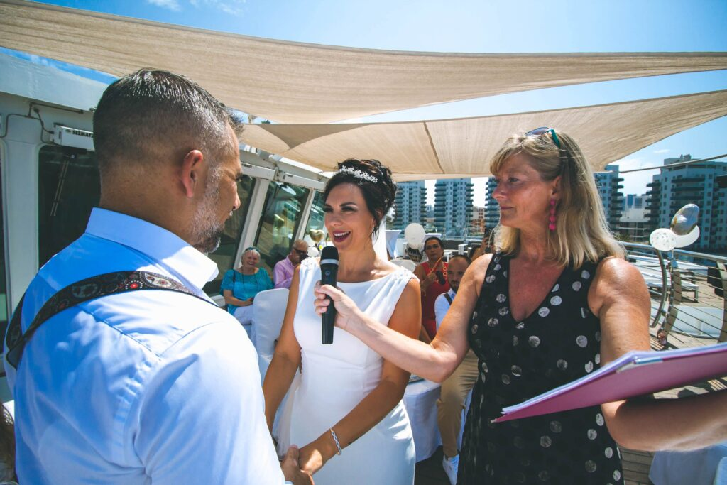 Spain destination wedding Gibraltar ceremony