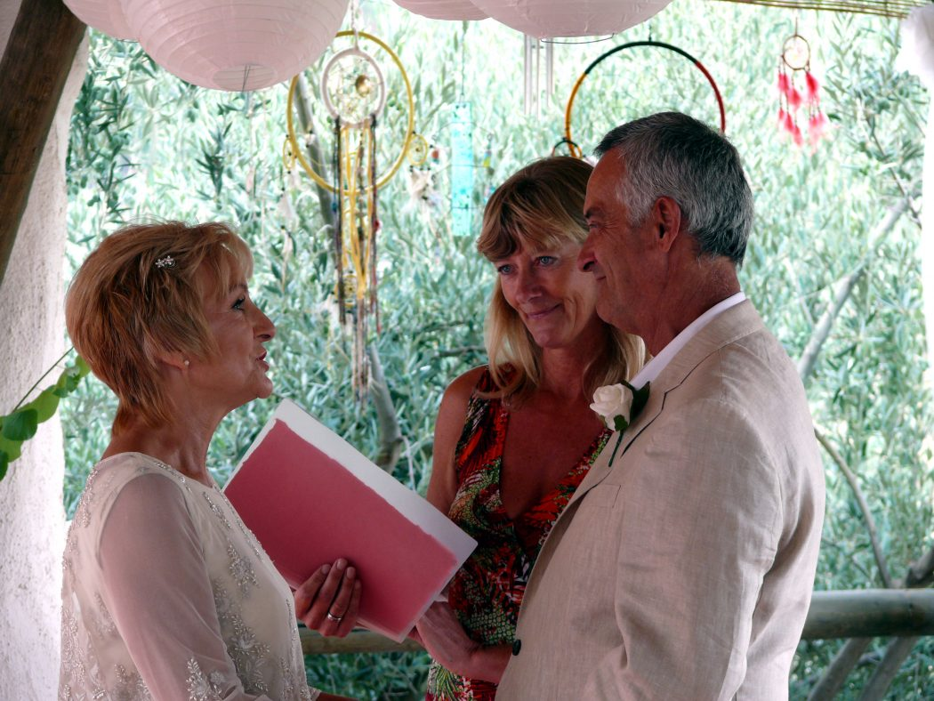 Vow renewal ceremony in Spain