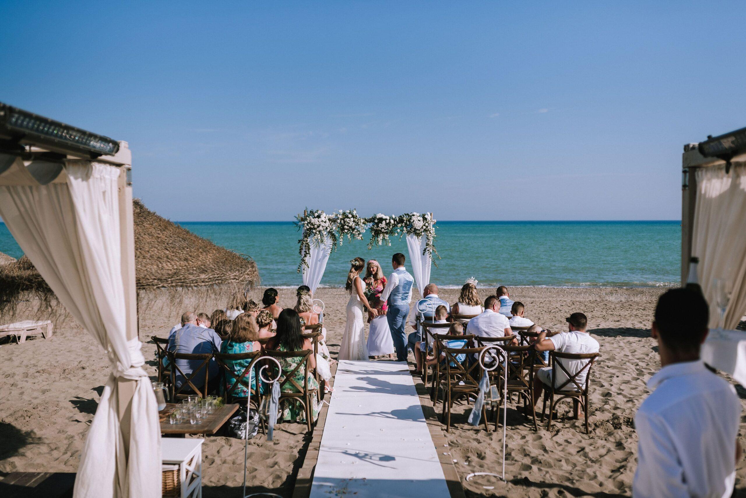 styled small beach wedding in Malaga