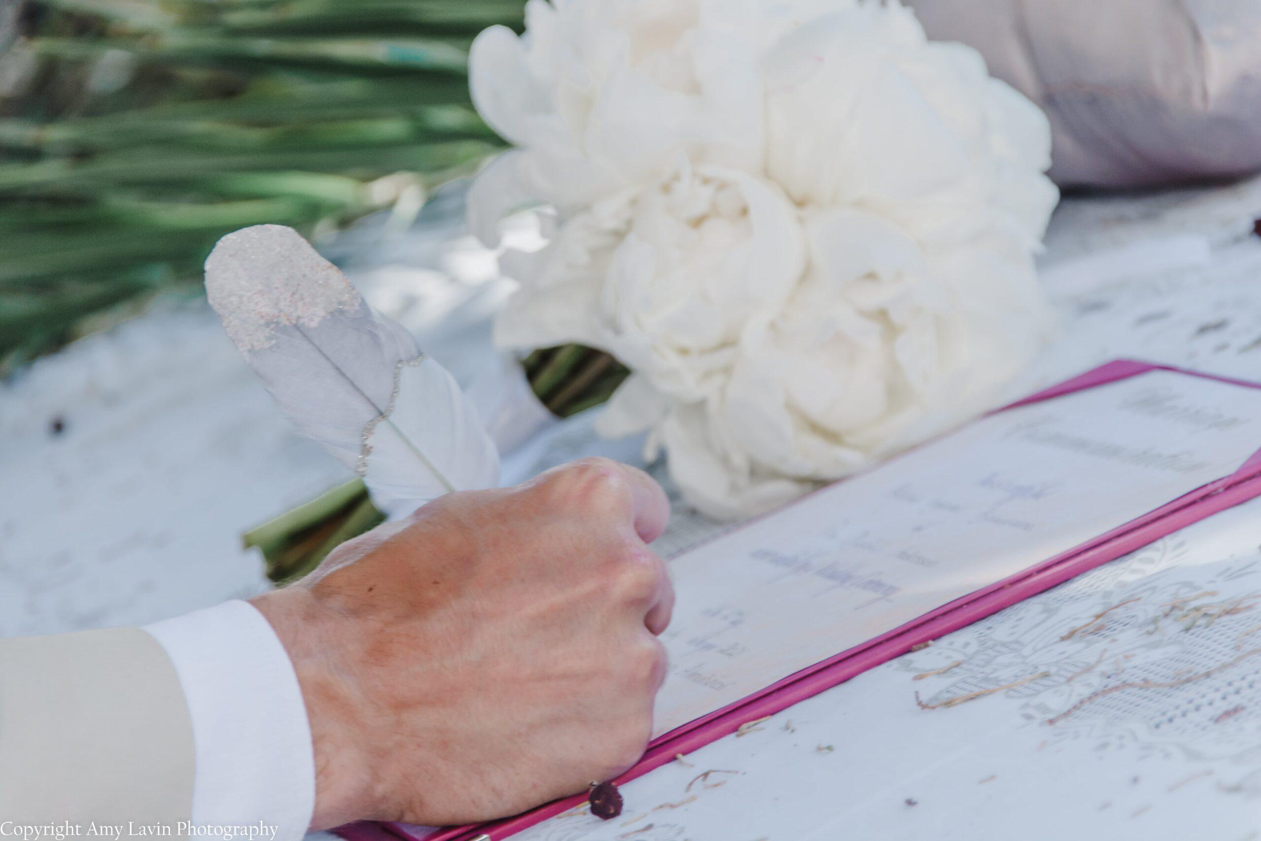Wedding Certificate signing in Almunecar