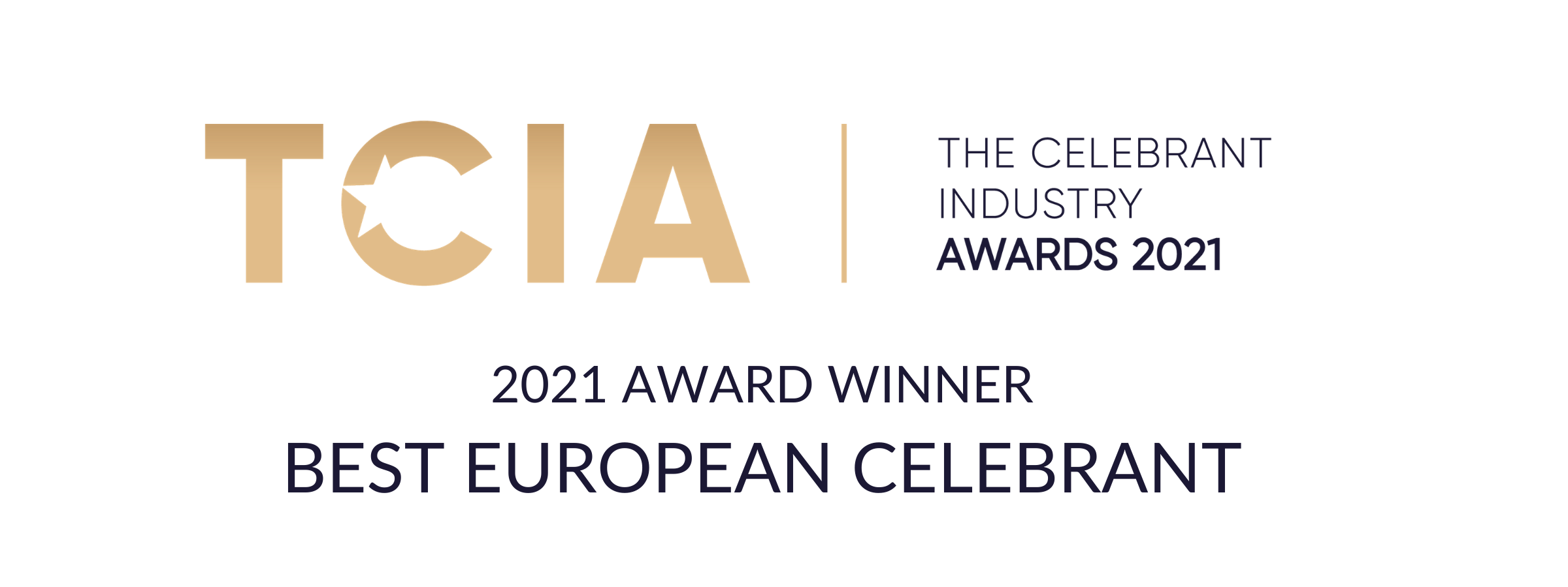 2021 Best European Celebrant Award