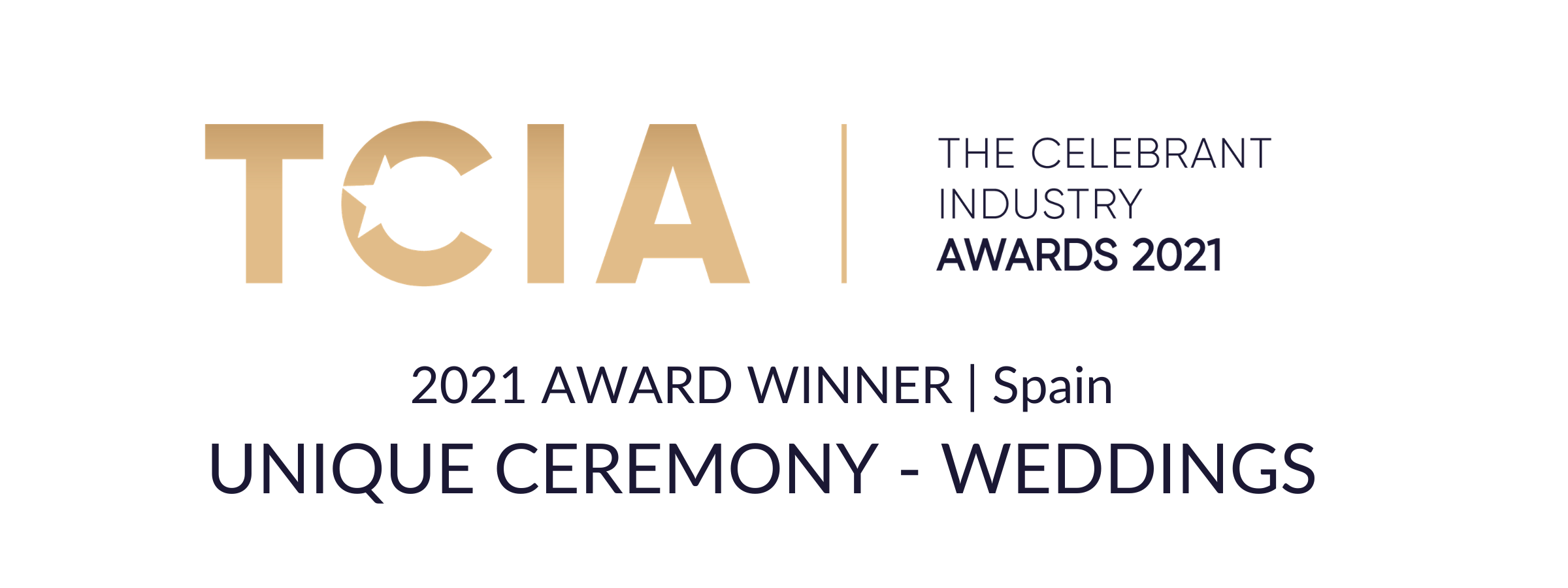 Most Unique Ceremony in Spain Award 2021
